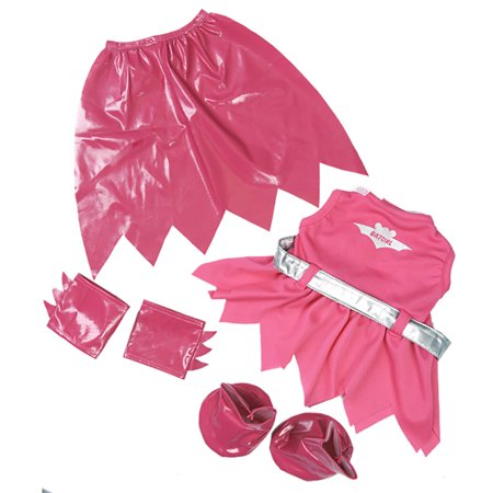 Bat Girl Outfit with Cape, Arm Bands, Boots & Silver Belt Fits Most 14