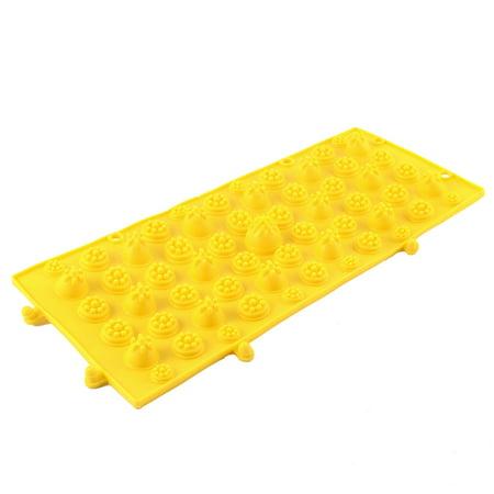 Sport Relaxation Rubber Foot Massage Mat Shiatsu Sheet Yellow - image 3 of 3