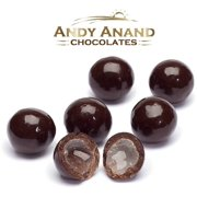 Andy Anand Dark Chocolate Rum Cordials with Sea Salt Gift Boxed & Greeting Card Mothers Fathers day Birthday Valentine Christmas Free Air Shipping (1 lbs)