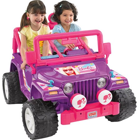 Power wheels purple barbie jammin 39 jeep 12 volt battery for Motorized cars for 6 year olds