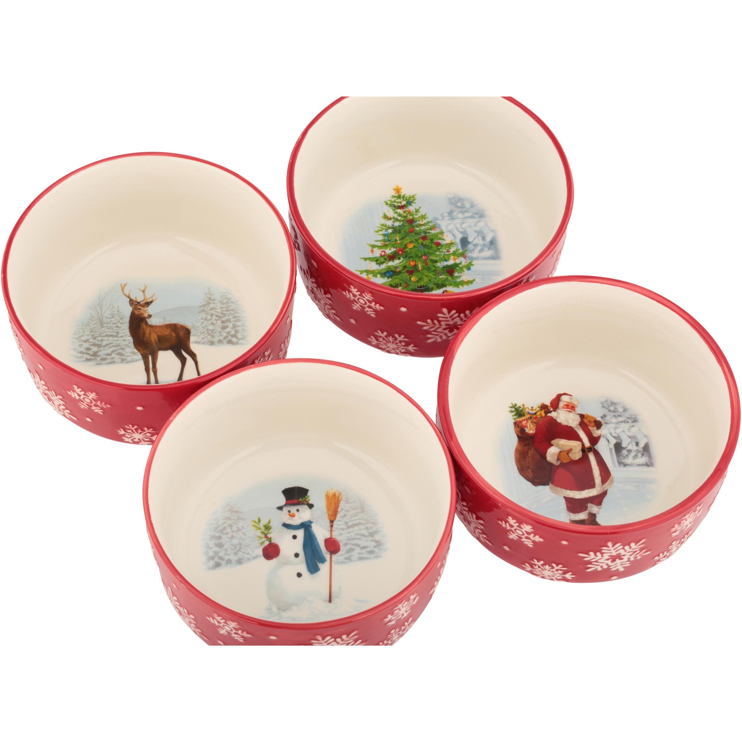 Holiday Time Snowflake Bowl Se...