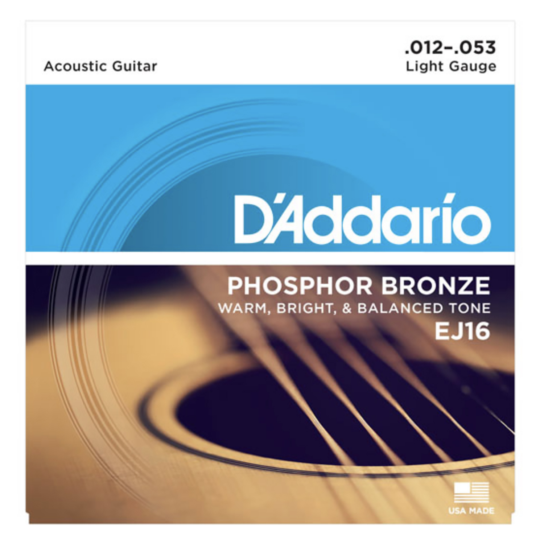 String, D'Add Acous Gtr PhosBrz Lite