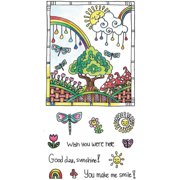 """Color Me Clear Stamps, 4"""" x 7.75"""", Sunshine"""