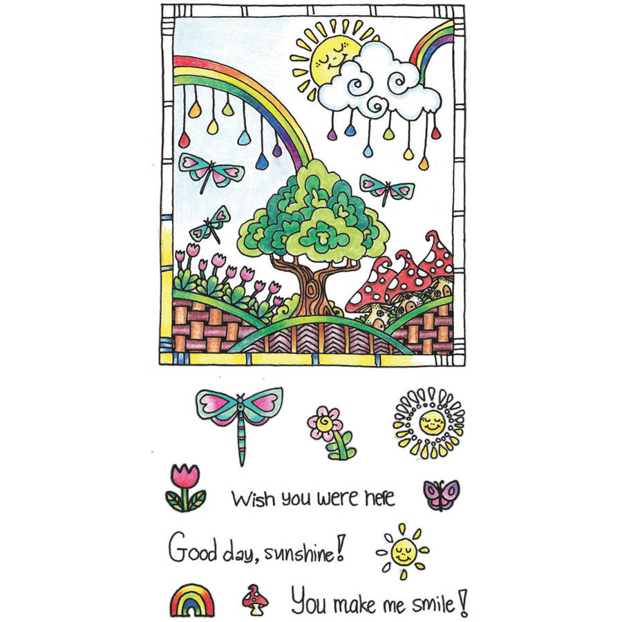 "Color Me Clear Stamps, 4"" x 7.75"", Sunshine"