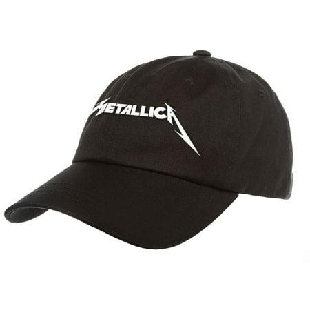 72ad055dbfa Metallica - Metallica Men s Logo Dad Hat Baseball Cap Black - Walmart.com