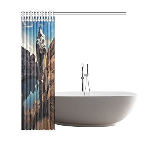 GCKG Dinosaurs Mountain Rock Polyester Fabric Shower Curtain Bathroom Sets Home Decor 66x72 Inches - image 2 of 3