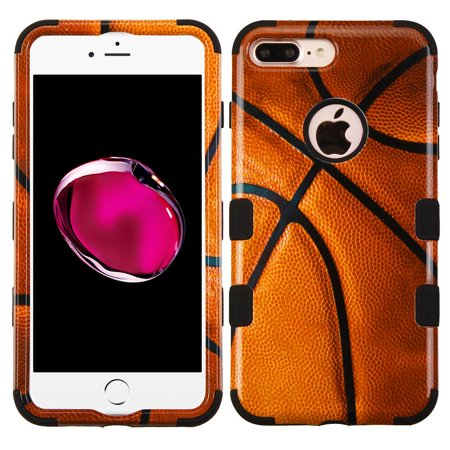 new concept 34066 f2123 Insten Tuff Basketball Hard Hybrid Silicone Cover Case for Apple iPhone 8  Plus / iPhone 7 Plus - Brown/Black
