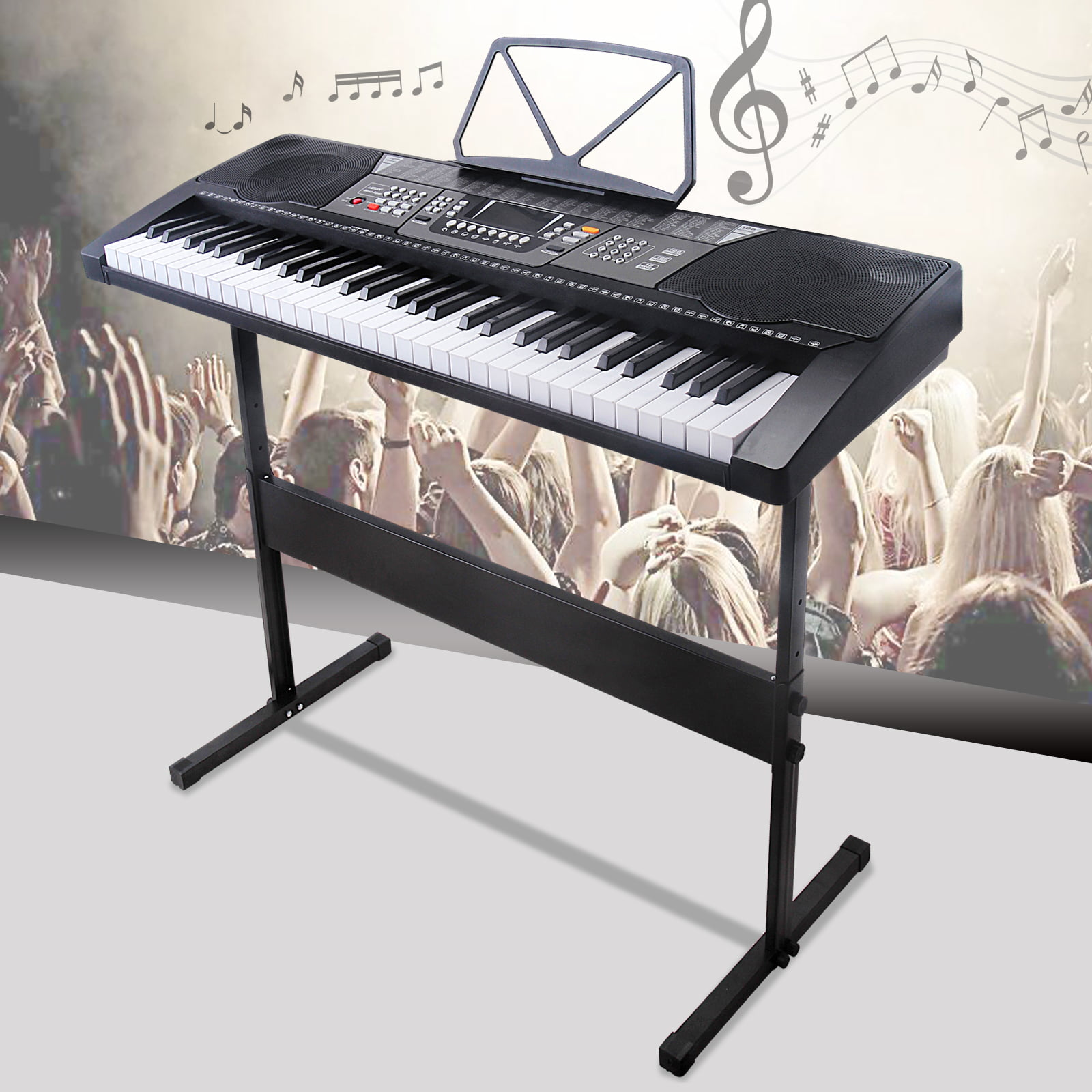 Click here to buy Uenjoy 61 Key Music Electronic Keyboard Electric Digital Piano LED Display LED Screen w ... by Uenjoy.