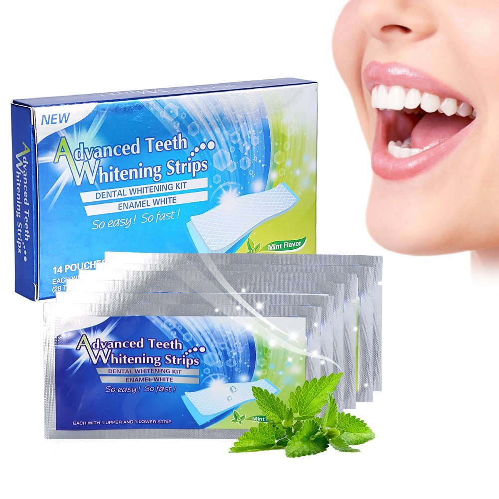 28 pcs Teeth Whitening Strips Professional Teeth Bleaching Gel Strip Dental Teeth Whitener Effective Dental Care Kit