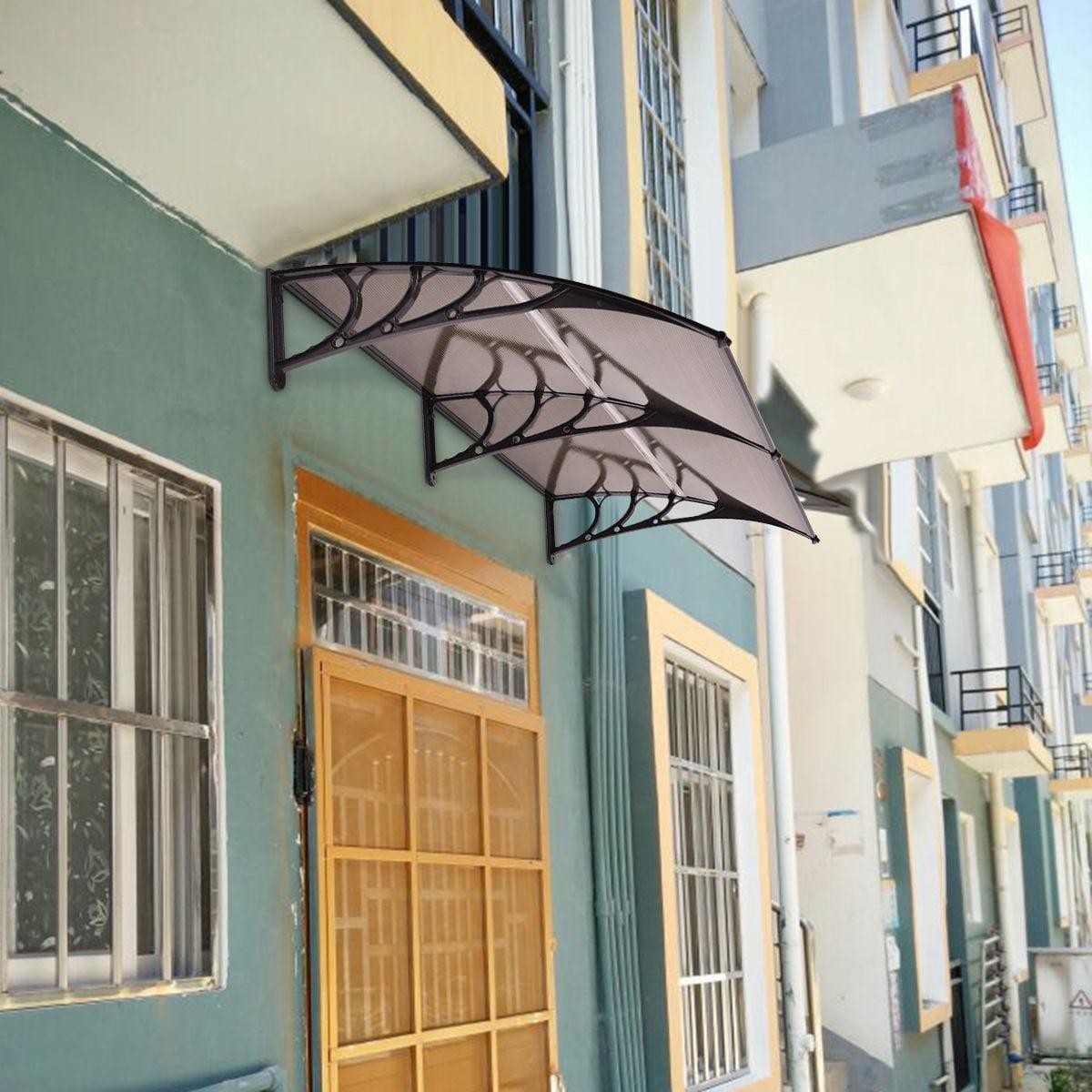 Costway 80 X 40 Window Awning Door Canopy Outdoor Polycarbonate