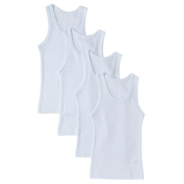 Sportoli - Sportoli Boys and Toddlers Underwear Ultra Soft 100% Cotton Pack  of 4 White Tank Top Undershirts - Walmart.com - Walmart.com