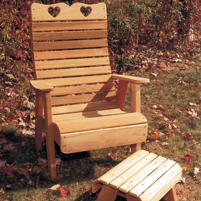 Creekvine Designs Country Hearts Cedar Adirondack Patio Chair