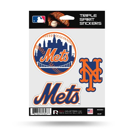 New York Mets Triple Sticker Multi Decal Spirit Sheet Auto Home Baseball  Triple Sticker Decal Sheet By Rico Industries