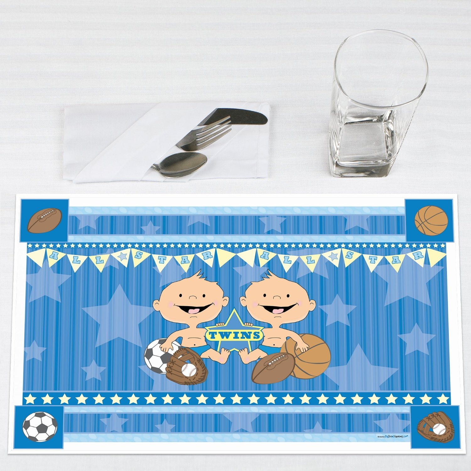 Twin All Stars Party Placemats Set of 12 by Big Dot of Happiness, LLC