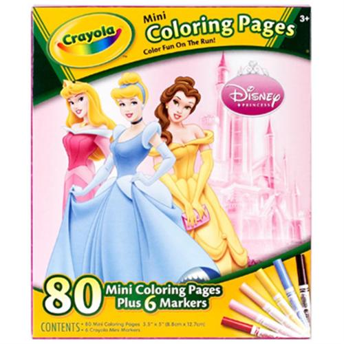 Crayola Mini Coloring Pages - Disney Princess 1 ea (Pack of 3)