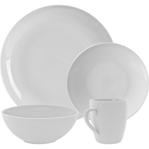 10 Strawberry Street Simply White Coupe 16-Piece Dinnerware Set by Ten Strawberry Street