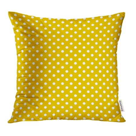 YWOTA Spot Pattern with White Polka Dots on Yellow Small Baby Color Gold Girl Vintage Pillow Cases Cushion Cover 20x20 inch ()