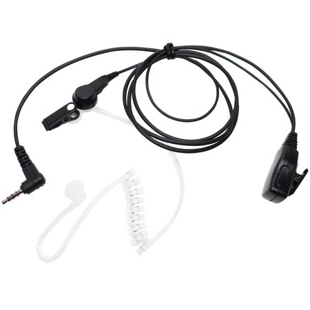 Replacement Yaesu / Vertex VX-400 FBI Earpiece with Push to Talk (PTT) Microphone - Acoustic Earphone For Yaesu / Vertex VX-400 Radio - Headset for Security and Surveillance - image 4 de 4