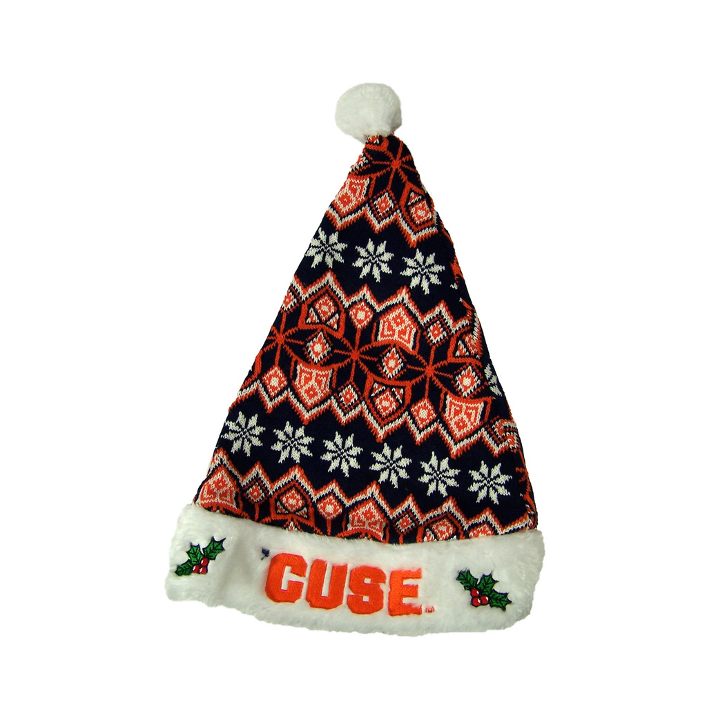 Syracuse Orangemen Official NCAA 17 inch Knit Christmas Santa Hat by Forever Collectibles by Forever Collectibles