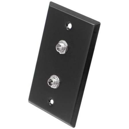 - Seismic Audio  - Black Stainless Steel Wall Plate - Dual 1/4