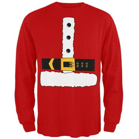 Santa Claus Costume Long Sleeve T-Shirt - Santa Claus Skirt
