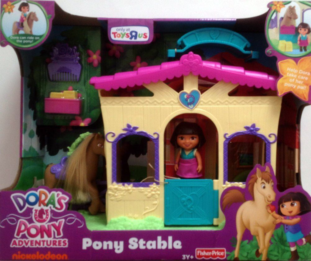Fisher Price Dora the Explorer Pony Stable With Horse & Dora Figure by