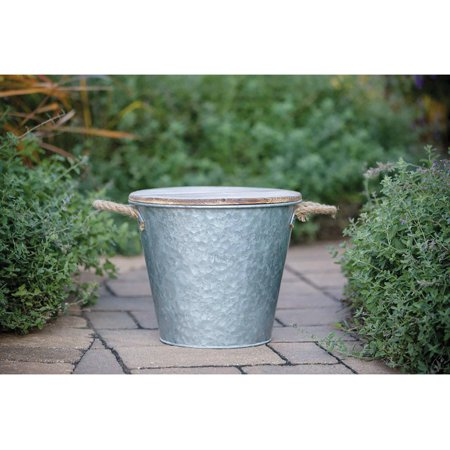 Patio Essentials 21309G-SPK Galvanized Bucket Candle Solid For Flying Insects, 132 Oz