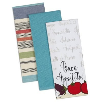 Design Imports 3 Piece Buon Appetito Dishtowel Set