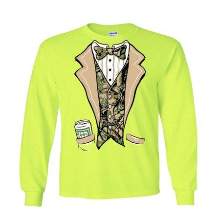 Camouflage Tuxedo Tux Camo Long Sleeve T-Shirt - Camo Tux
