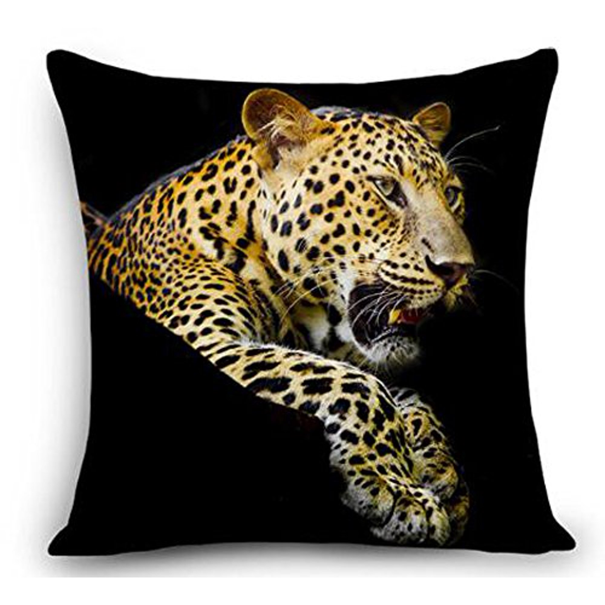Animal Cheetah Leopard Throw Pillow Cover Cushion Case Cotton Linen Material Decorative 18 Square 1 Walmart Canada