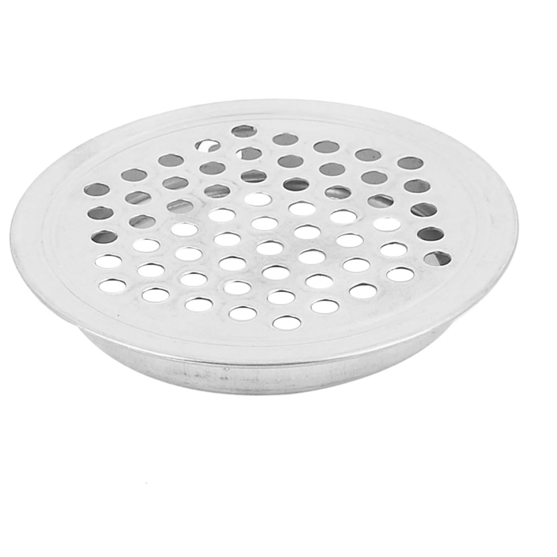 65mm Dia Silver Tone Metal Perforated Mesh Hole Cabinet Air Vent Louver Cover