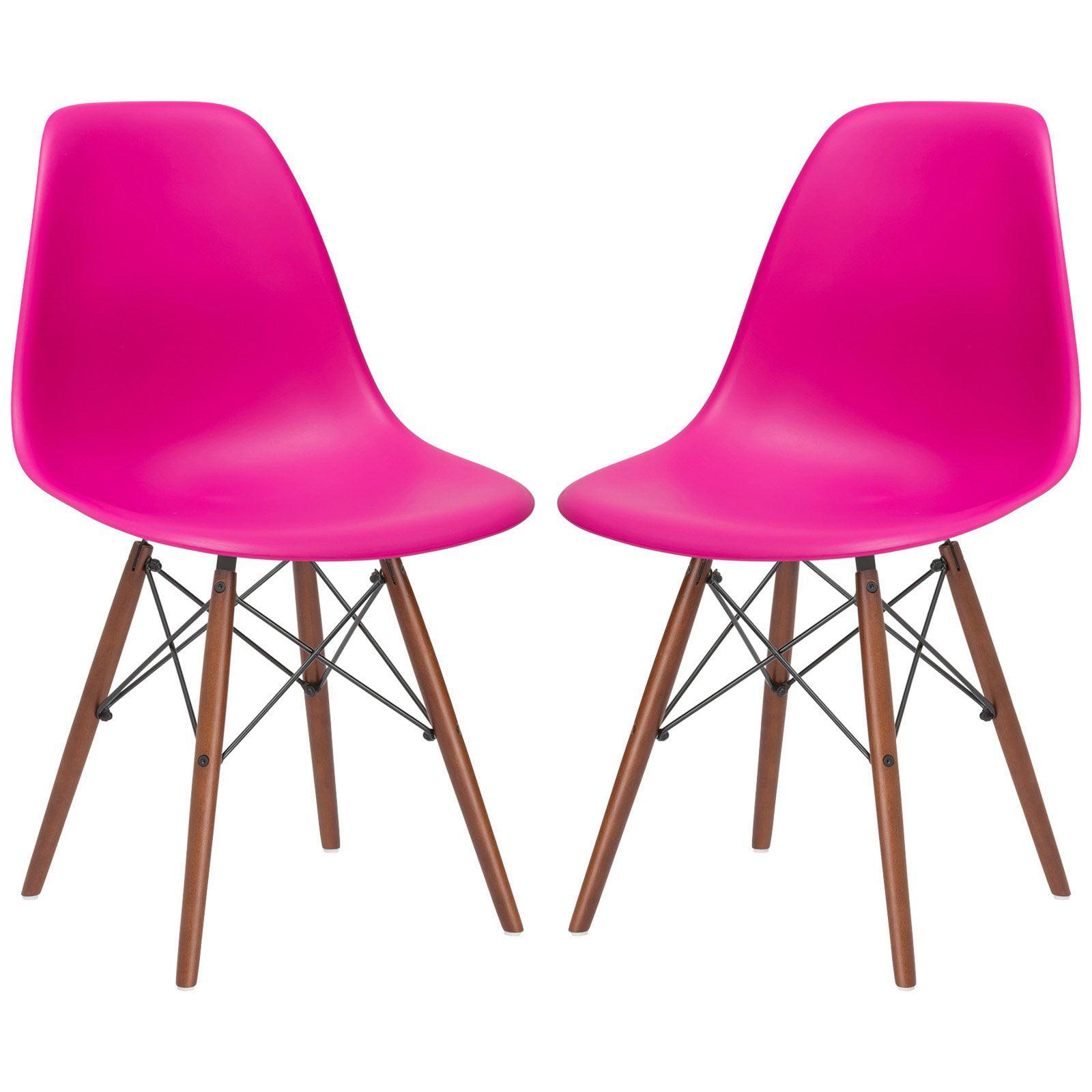 EdgeMod Vortex Side Chair with Walnut Legs - Set of 2