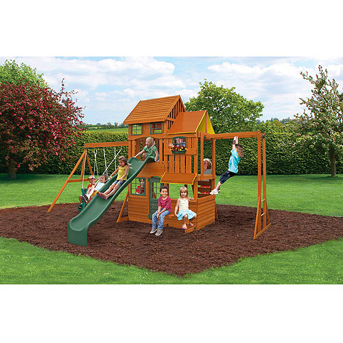 Cedar Summit Barrington Cedar Wooden Swing Set
