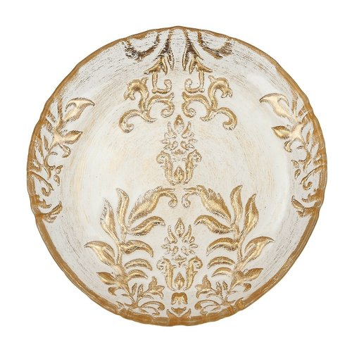 Red Pomegranate 6.5'' Damask Canape Plate