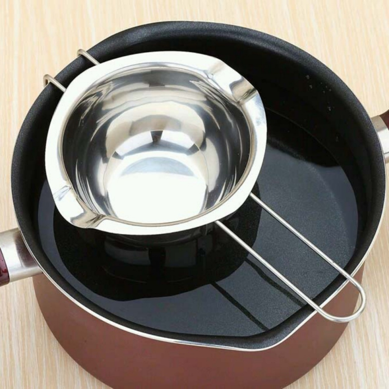 CHLTRA Chocolate Heating Melting Pot Double Boiler Milk Bowl Butter Candy Warmer Stainless Steel Melting Kettle Pastry Baking - Milk Heating Tool Melting Kettle Pot Kitchen Baking Tools