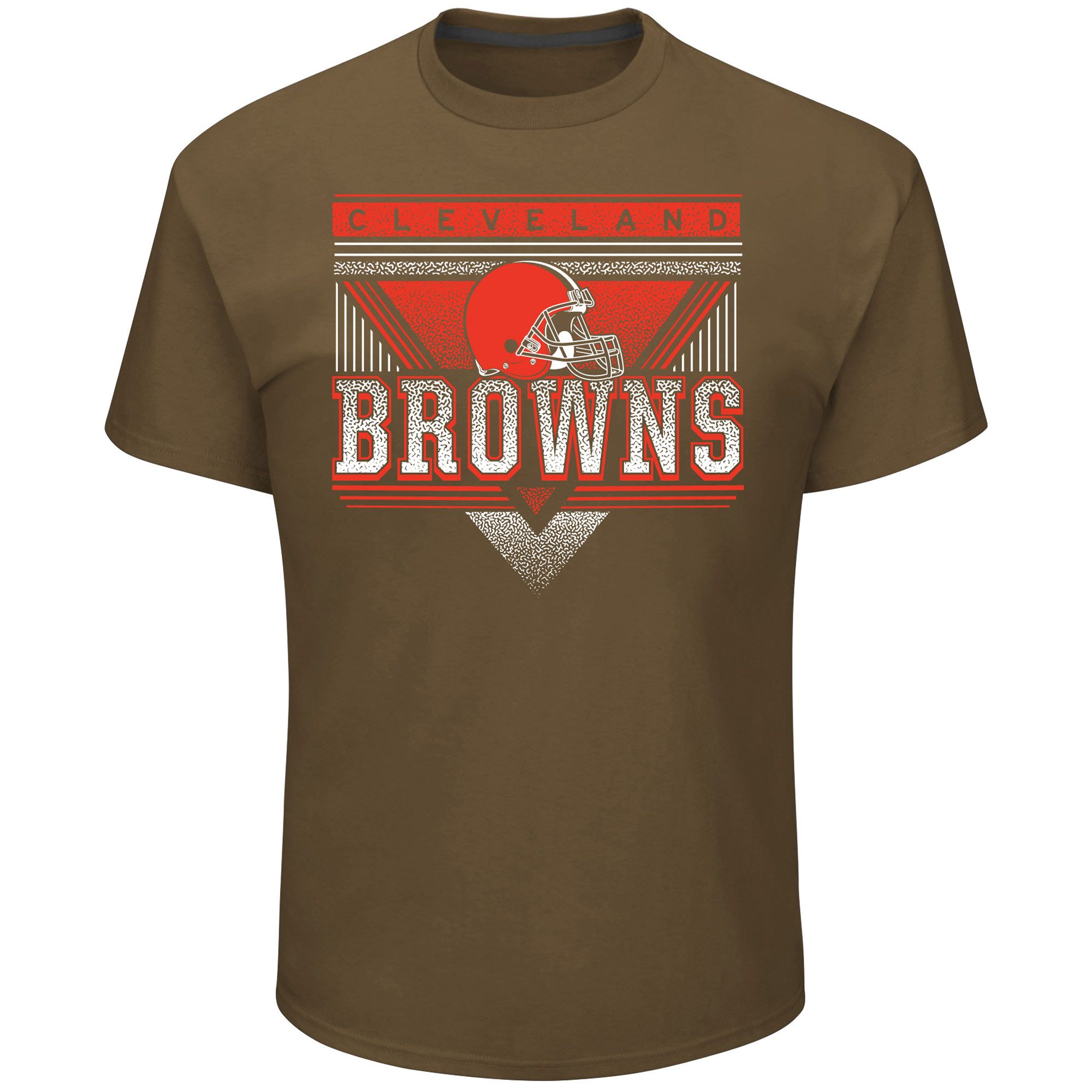 Cleveland Browns Majestic Keep Score T-Shirt - Brown