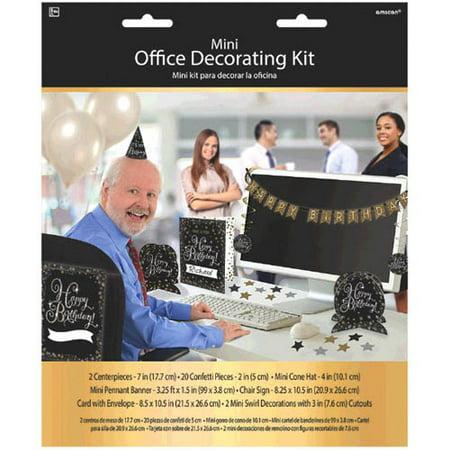 - Happy Birthday 'Sparkling Celebration' Office Decorating Kit (28pc)