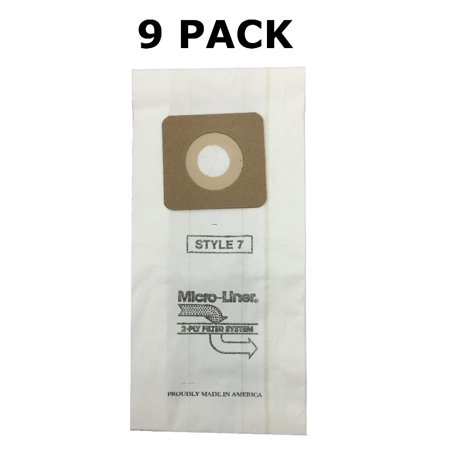 9 Bags for Bissell Style 1, 4, & 7 Allergen Vacuum Bag Powerforce, PowerGlide # 30861