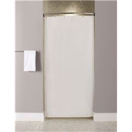STALL SIZE SHOWER CURTAIN WHITE 10 GAUGE 72 IN X 36