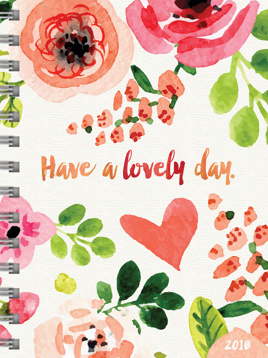 2018 Lovely Day Medium Weekly Monthly Planner - Walmart.com