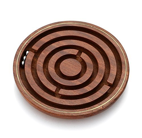 Souvnear Brain Teaser Hand And Eye Coordination Gifts Under 15 Dollars Wooden Labyrinth Board Ball In Maze Puzzle Handcrafted India