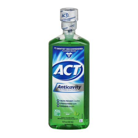 Act Mint Anticavity Flouride Mouthwash  18 Oz
