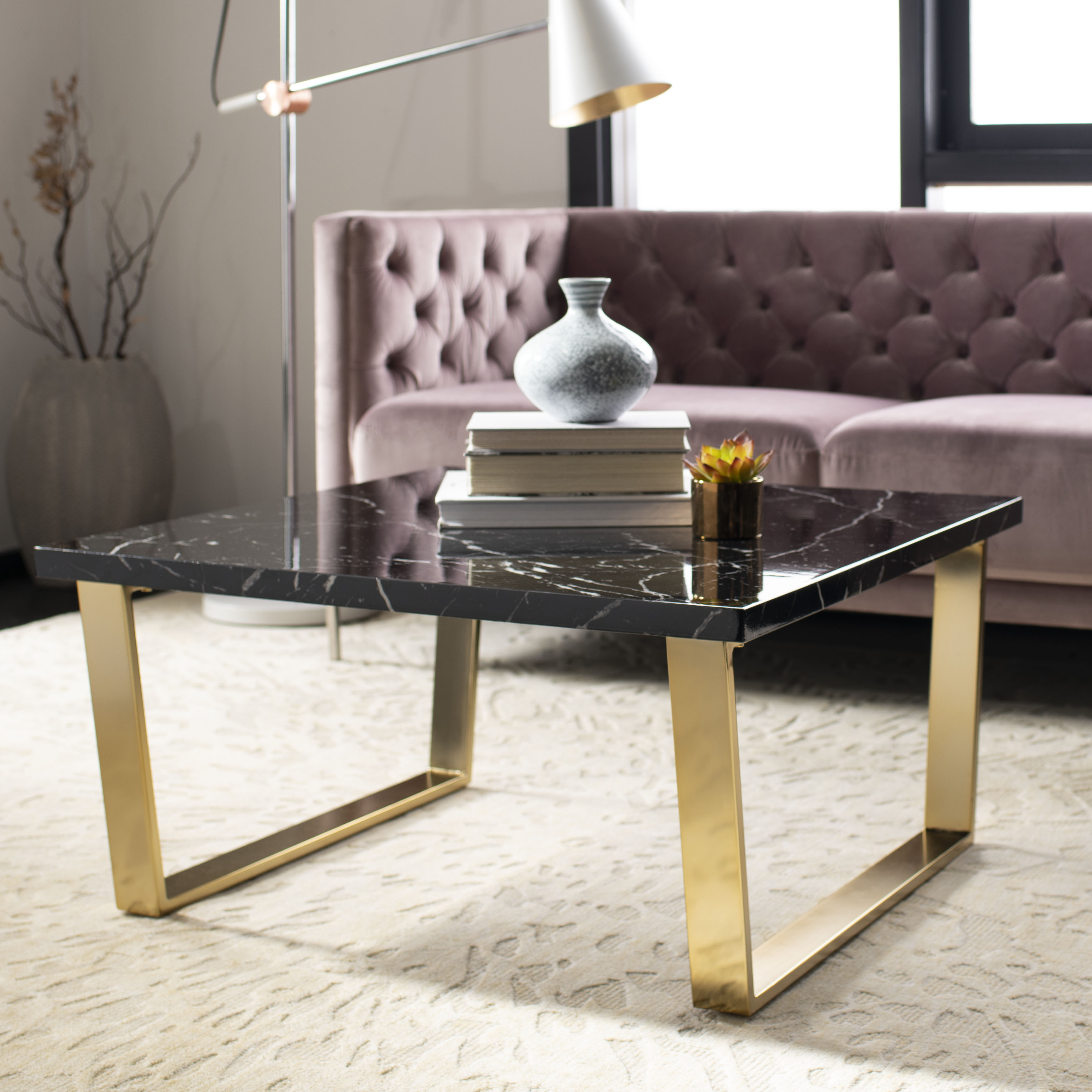 Safavieh Carmen Modern Glam Square Coffee Table