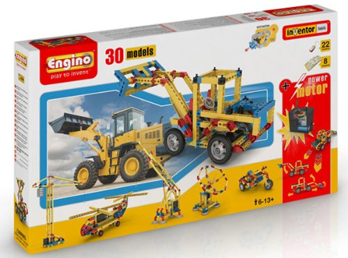 Engino 30 Model Construction Set with Motor Construction Kit by Elenco Electronics Inc
