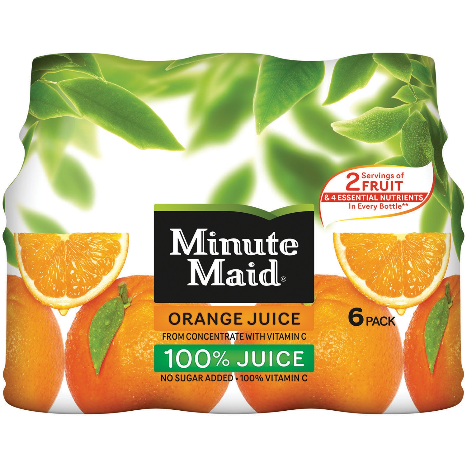 Minute Maid 100% Juice Orange - 6 PK, 10.0 FL OZ