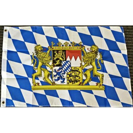 Oktoberfest Banner (2x3 Bavaria Germany with Lions Bavarian German Oktoberfest Octoberfest Flag)