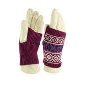 American Rag Women's Tribal Print Two Piece Knit Gloves (One Size, Ivory)
