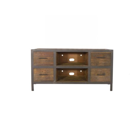 Michael Anthony 4-Drawer Reclaimed Wood Media Console
