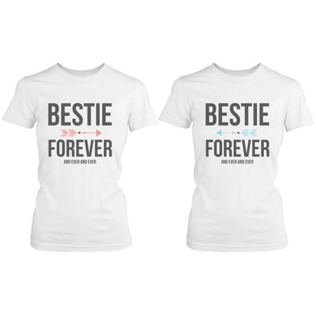 Best Friend Shirts - Bestie Forever and Ever Matching White