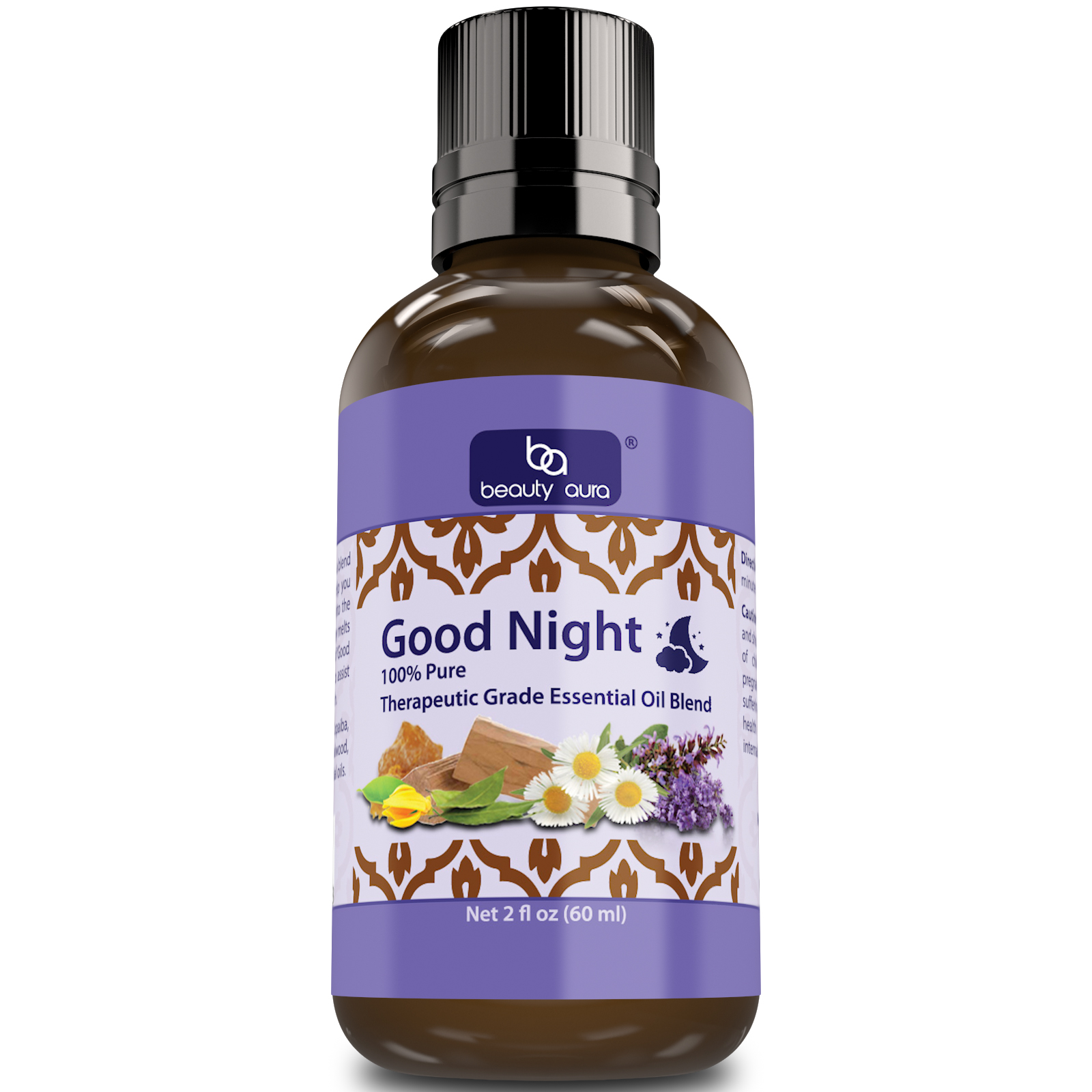 Beauty Aura Good Night Essential Oil Blend (2 Oz)- Therapeutic Grade
